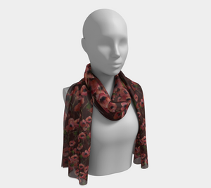 Poppies on Caramel Scarf