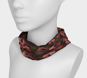 Red Poppies 4-in-1 Headband/Hairband/Funnel Scarf/Scrunchy