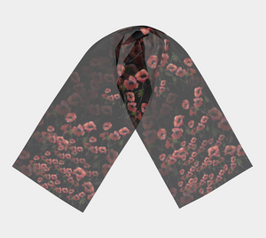 Poppies on Black Ground Scarf