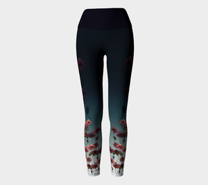Poppies Yoga Leggings