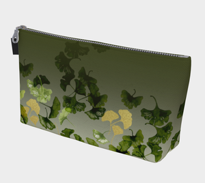 Gingko and Gold Makeup Bag