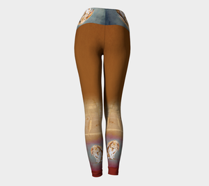 Milo the Rabbit Dreams of Carrots Yoga Leggings
