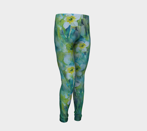 Large Daffodil Kids' Leggings (ages 4 - 12)