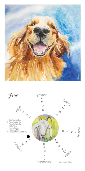 2021 Celebrating Animals Calendar with 24 Paintings by Miranda Loud