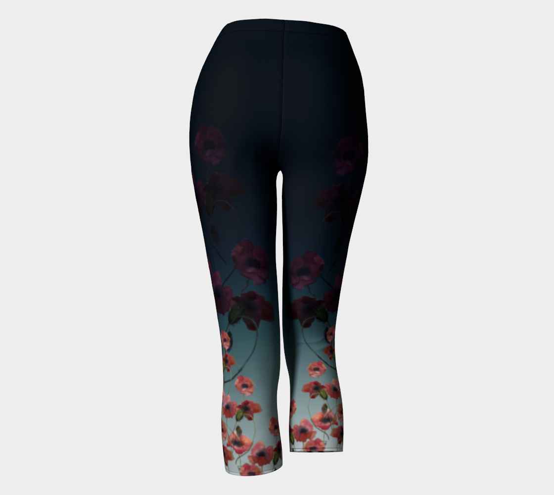 Regular Band (vs. Yoga wide band) Poppy Capris