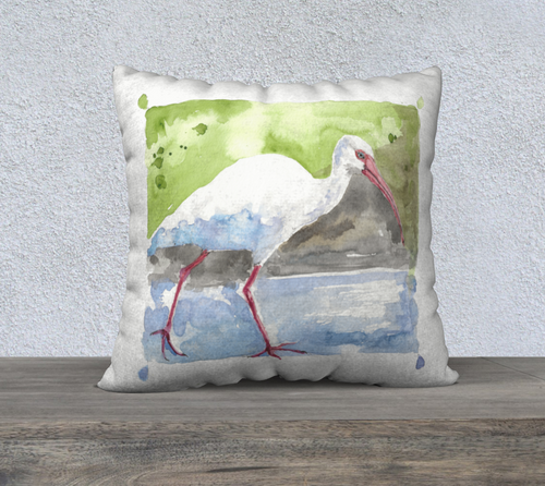 White Ibis pillow cover 22