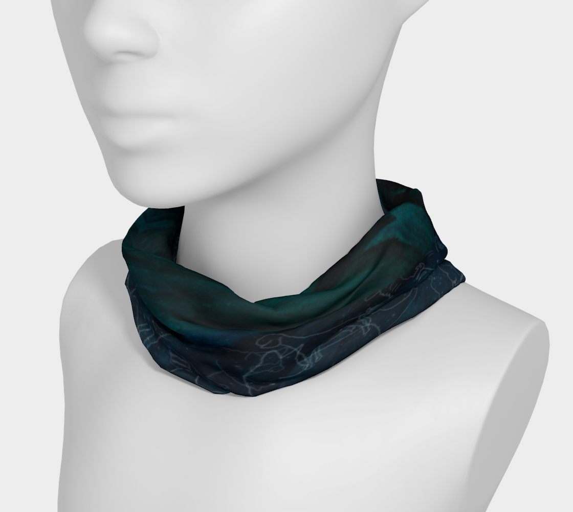 Uncommon Constellations 4 in 1 Headband/Hairband/Funnel Scarf/Scrunchy