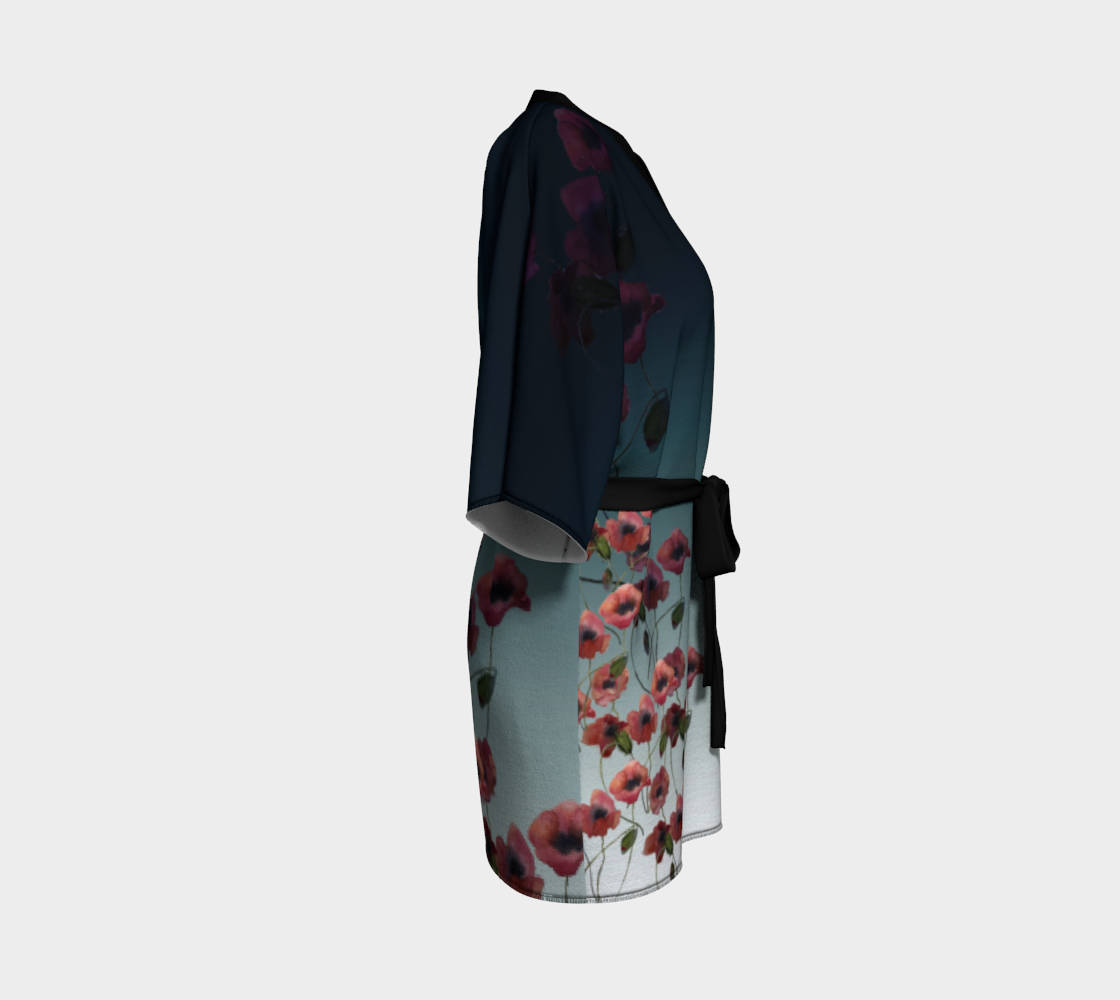 Poppies in the Moonlight Kimono Robe