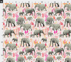 Elephant Families Wallpaper