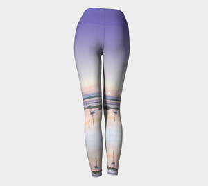 Moonrise Over the Cove Yoga Leggings