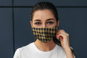 Harlequin Reversible Soft Stretch Organic Cotton Mask with Nose Wire