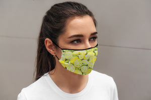 """When Life Gives You Lemons"" face mask with inside pocket and nose wire"