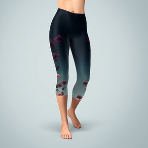 Poppies Yoga Capris