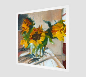 Sunflowers in a Vase Art Print Open Edition