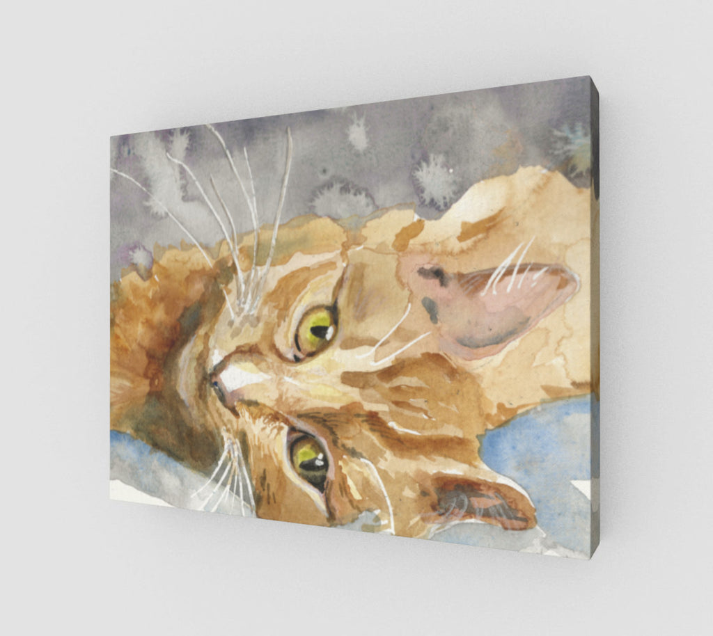 Big Orange 11x14 Art Print  Gallery Wrapped Canvas