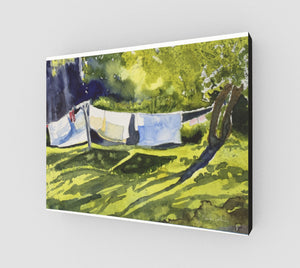 HBC Slow Laundry Gallery Wrapped Canvas