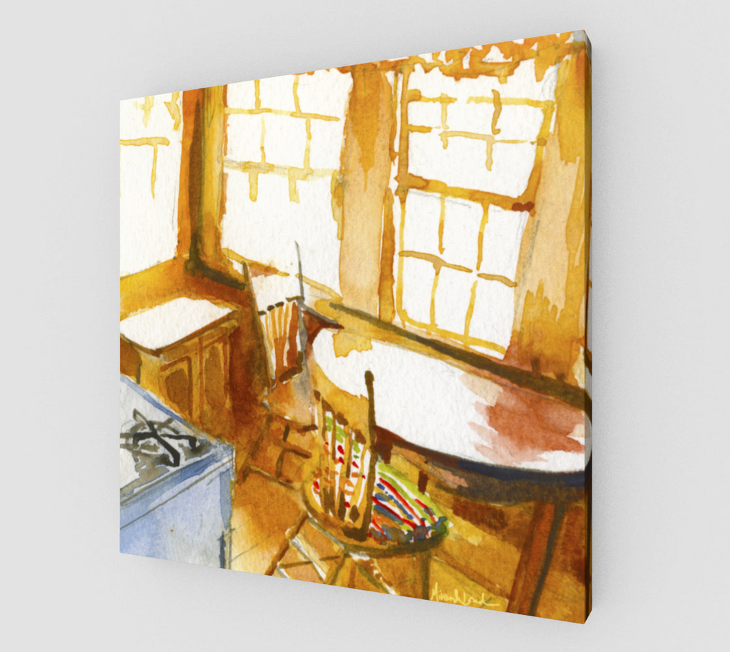 Before Breakfast in Gull's Roost Gallery wrapped canvas