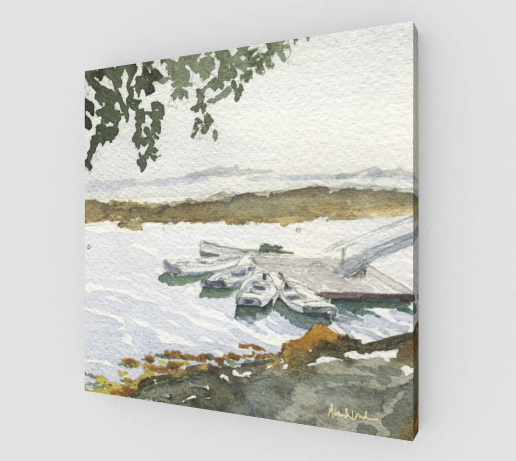The Boats Are Singing Art Print Gallery wrapped Canvas