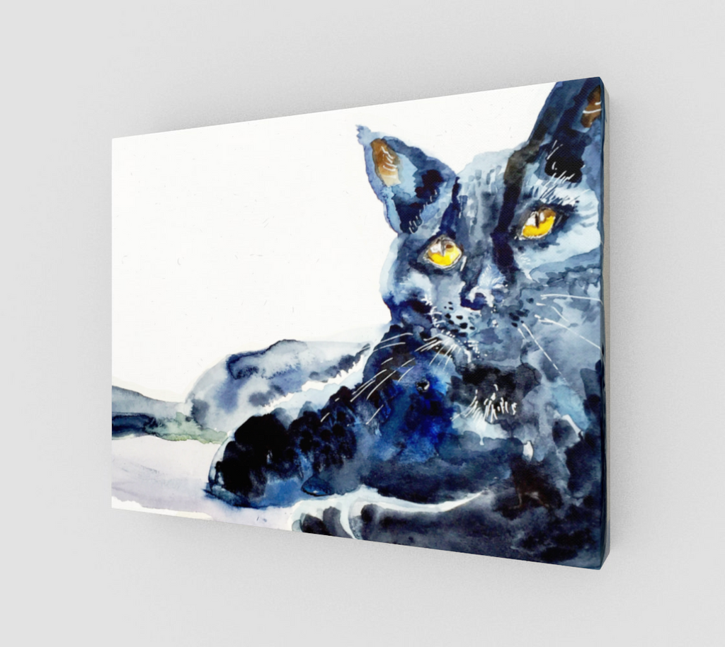 Black Cat Beauty Gallery Wrapped Canvas