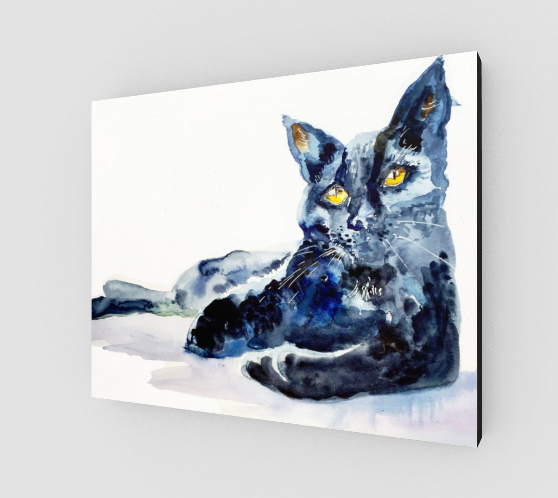 Black Cat Beauty 20x16 Gallery Wrapped Canvas