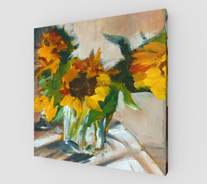 Sunflowers in a Vase Gallery Wrapped Canvas