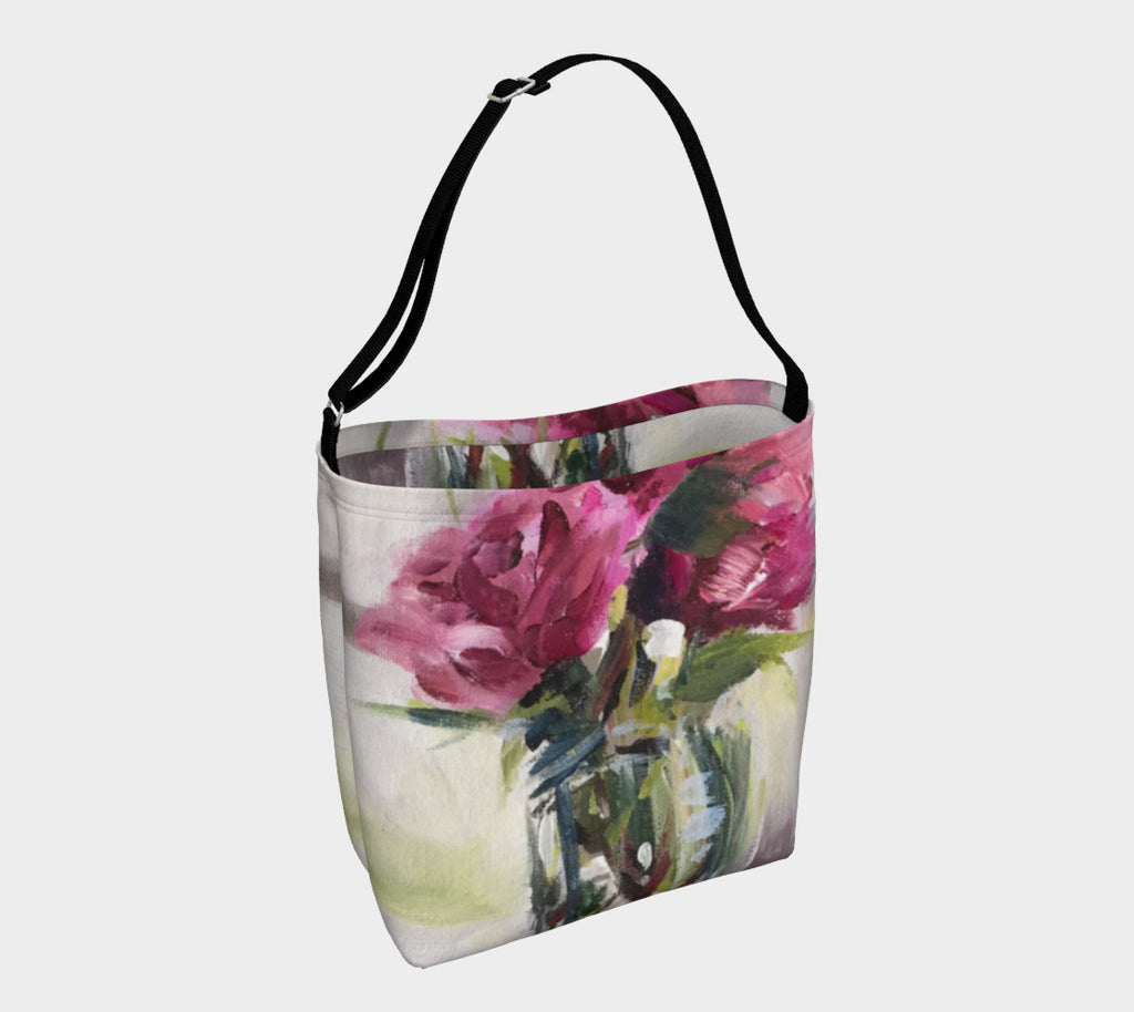 Summer Roses Soft Stretchy Neoprene Tote
