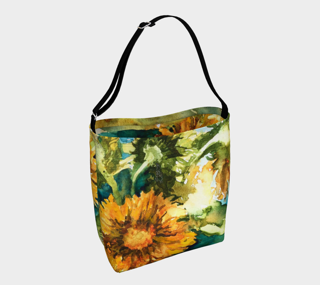 Sunflowers Soft Stretchy Neoprene Tote