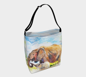 Elephant Love Soft Stretchy Neoprene Tote