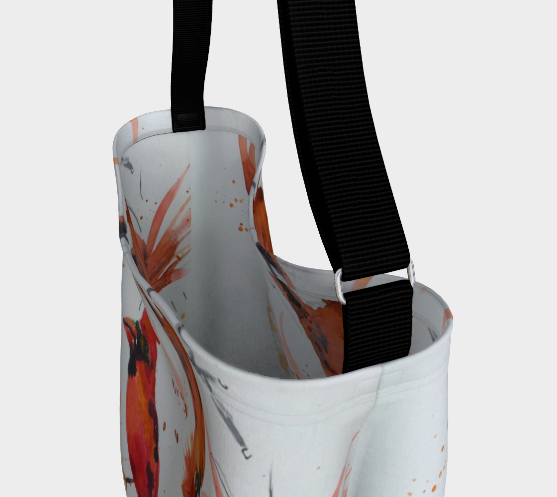 Cardinal Cartwheels Soft Stretchy Neoprene Tote