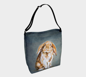 Milo the Lop-Eared Rabbit Soft Stretchy Neoprene Tote