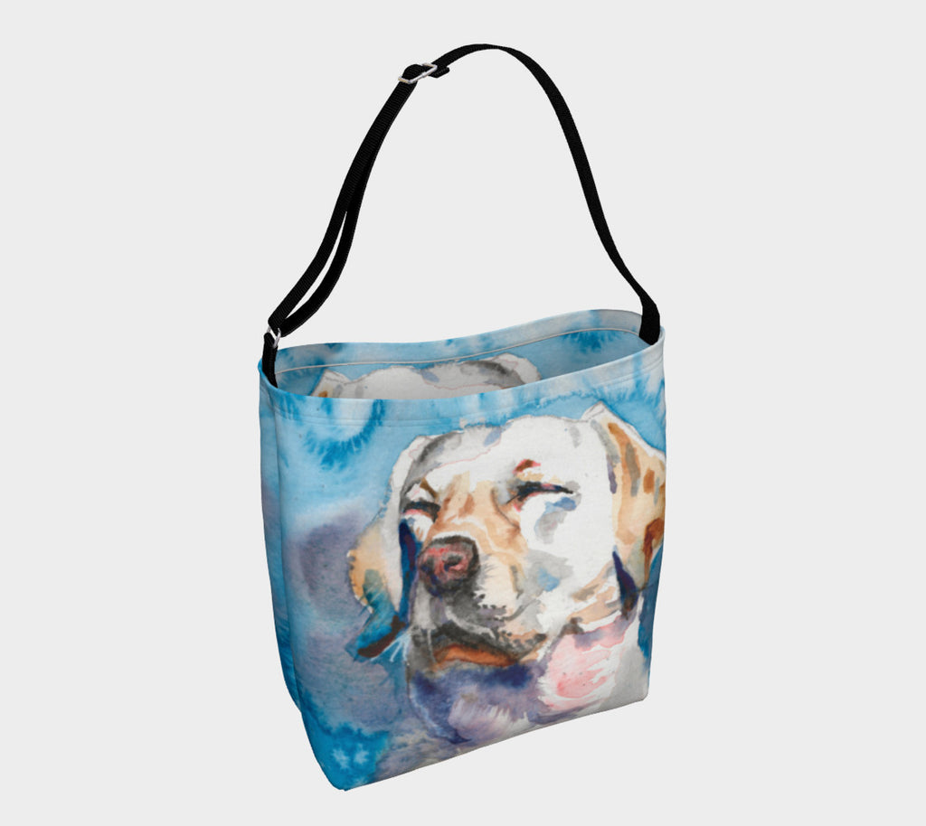 Golden Labrador Dreams Soft Stretchy Neoprene Tote