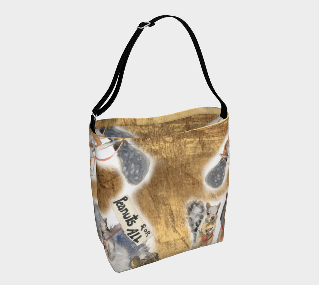 Squirrels for Peace and Peanuts for All Tote