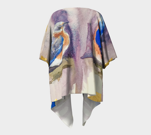 Bluebird with Gold Draped Kimono