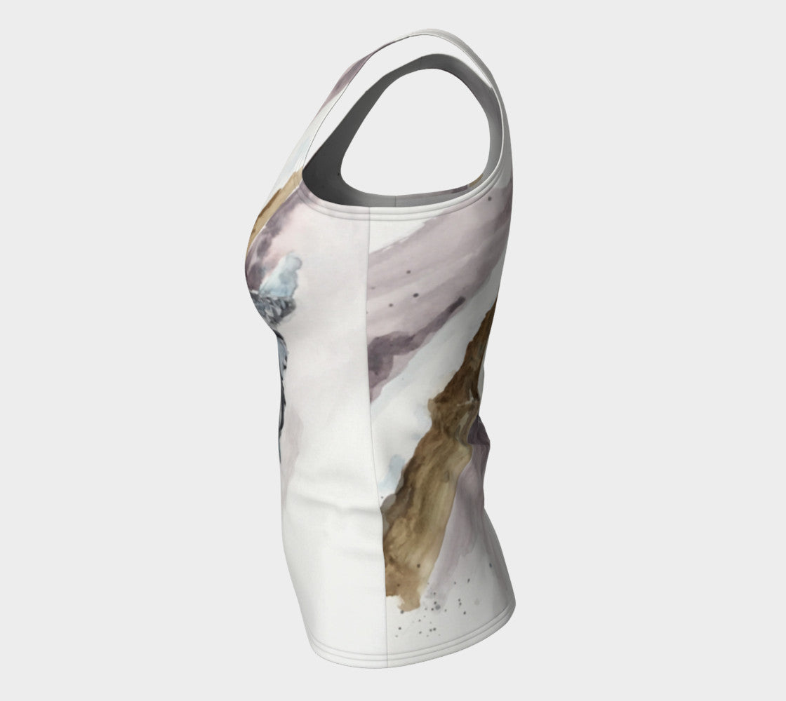 Nuthatch Fitted Tank Top (Long)
