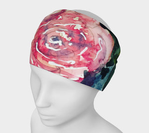 Roses 4 in 1 Headband/Hairband/Funnel Scarf/Scrunchy