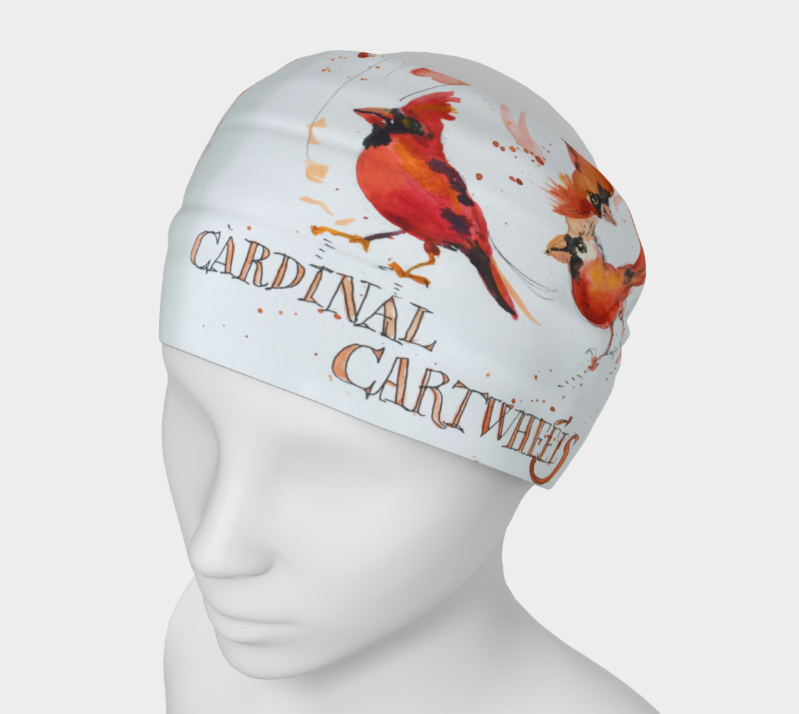Cardinal Cartwheels 4 in 1 Headband/Hairband/Funnel Scarf/Scrunchy