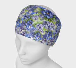 Spring Flowers 4 in 1 Headband/Hairband/Funnel Scarf/Scrunchy