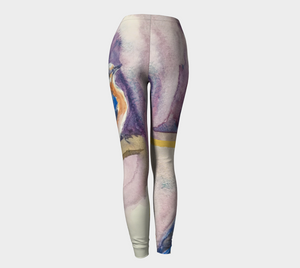 Bluebirds with Gold Fashion Leggings