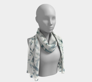 Feathers Long Scarf