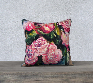 "Roses 18""x18"" Pillow Cover"