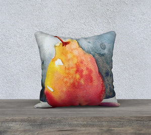 "Delicious Pear Pillow Cover 18""x18"""