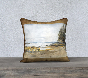 "Pebble Beach 18""x18"" Pillow Cover"