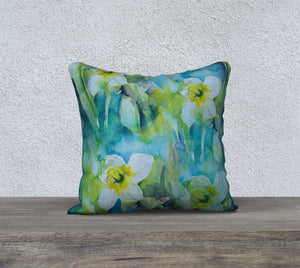 Daffodil Pillow Cover 18x18
