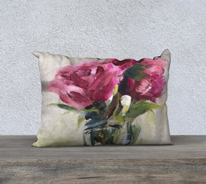 "Roses on the Piano 20""x14"" Pillow Cover"