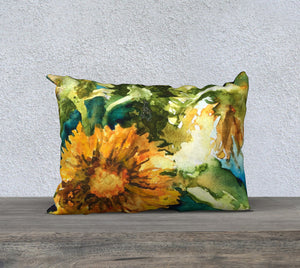 "Sunflowers 20""x14"" Pillow Cover"