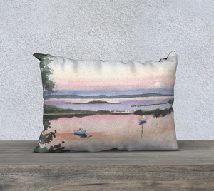 Moonrise Over the Cove 20x14 pillow cover
