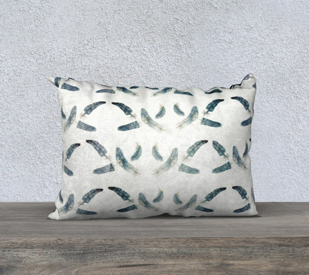 "20""x14"" Feathers Pillow Cover"