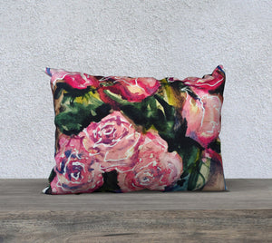 "Roses Pillow Cover 20""x14"""