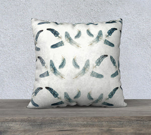 "22""x22"" Feathers Pillow Cover"
