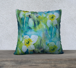 Daffodil pillow cover 22x22